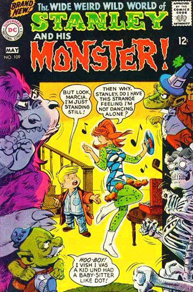 Could Marcia be related to Angel & Dumb Bunny? Stanley and His Monster #109. Cover by Bob Oksner.