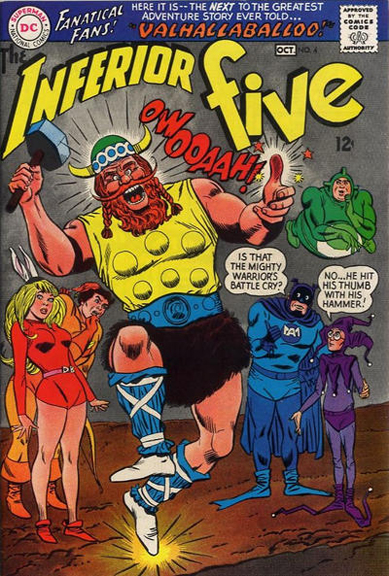 The Inferior Five #4. Cover by Mike Sekowsky & Mike Esposito.