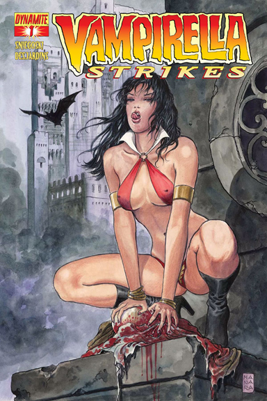 Vampirella Strikes #1 cover by Milo Manara