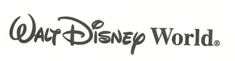 Walt Disney's official signature as part of the Walt Disney World logo.