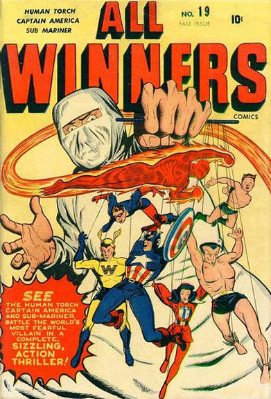 All Winners Comics #19 featured the first appearance of the All-Winners Squad.
