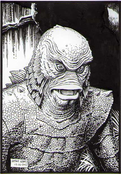Creature From The Black Lagoon By Arthur Adams