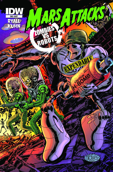 Mars Attacks Zombies Vs. Robots (Rog-2000 cover)