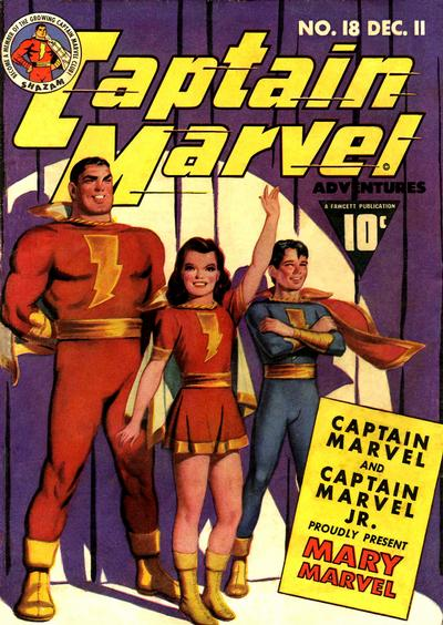 Golden Age Captain Marvel from Captain Marvel Adventures #18
