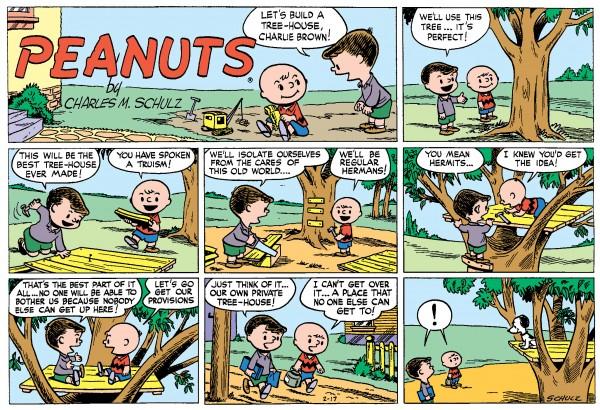 Peanuts Sunday strip