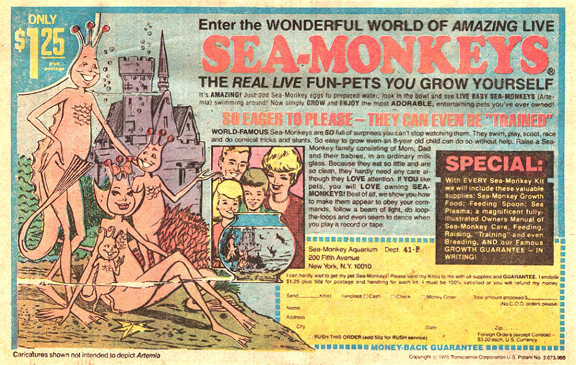 A classic Sea-Monkeys ad.