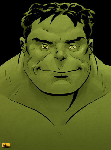 """Hulk Happy."" Art by Evan Shaner"
