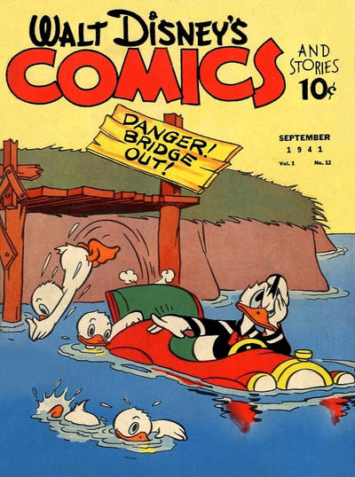 Walt Disney's Comics and Stories #12. Art by Al Taliaferro.