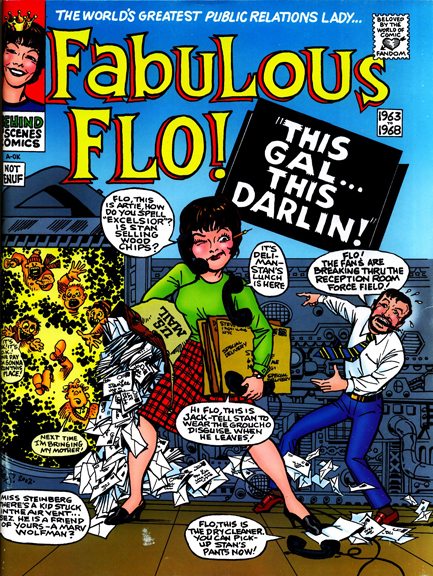 Flo stars on the flip cover to Comic Book Artist #18. Art by Marie Severin.