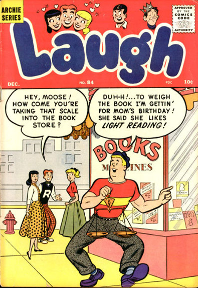 Early cover appearance by Big Moose. Laugh Comics #84, 1946.