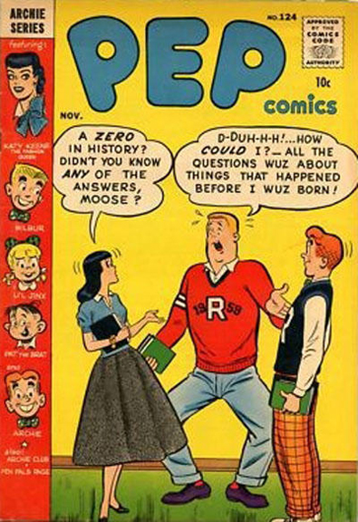 Pep Comics #124, November 1957