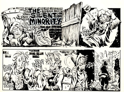"The opening of ""The Silent Minority"" by Mike Ploog."
