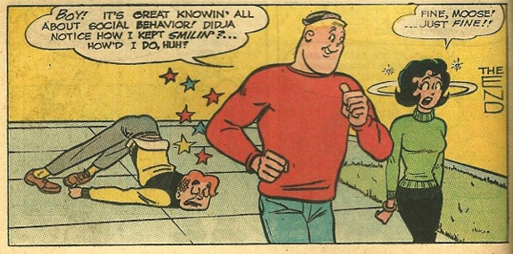 Example of petite Midge. From Archie #147, July 1964 cover date. Art by Harry Lucey.