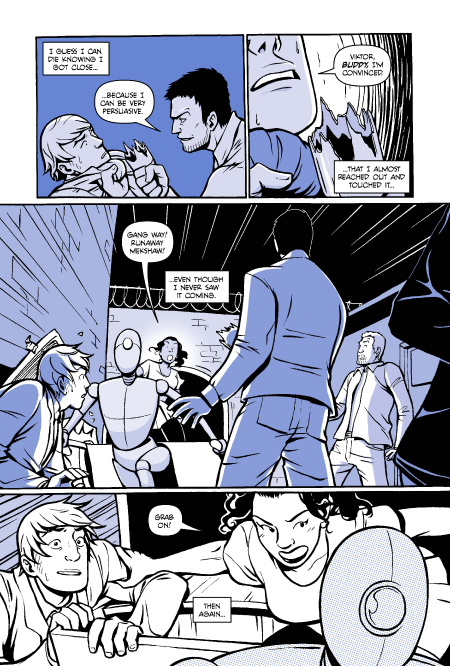 A Boy & A Girl preview page 3. Art by Natalie Nourigat.