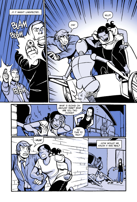 A Boy & A Girl preview page 4. Art by Natalie Nourigat.