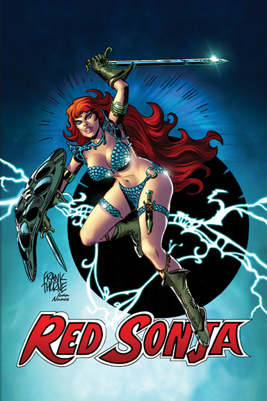 Red Sonja. Art by Frank Thorne & Kevin Nowlan.