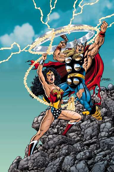 """""""Who's Your Daddy?  No....Who's YOUR Daddy?""""  Art By George Perez"""