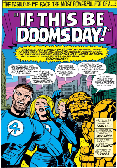"""""""The Fantastic Four Welcomes Galactus To Moe's."""" (Also Known As Taco Earth.)"""