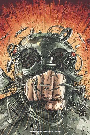 Magnus: Robot Fighter cover by Hardman.