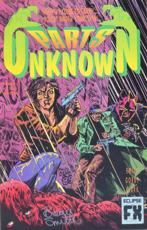 Parts Unknown #1 The Original Series (Cover art by Brad Gorby & Tim Truman.)