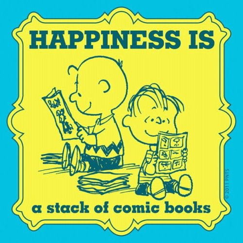 Happiness is a stack of comic books