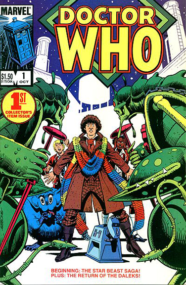 Marvel US' Doctor Who #1. Cover art by Dave Gibbons.