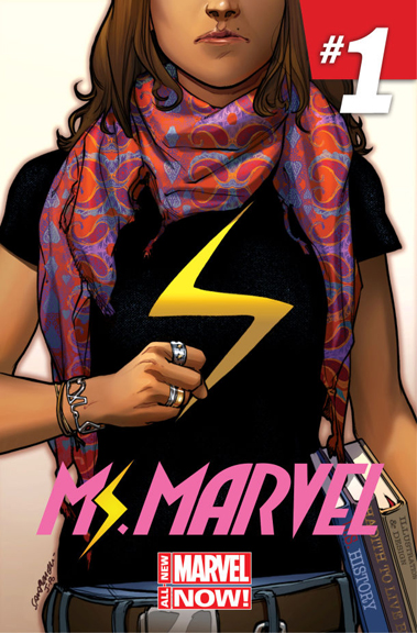 Ms. Marvel #1 cover by Sara Pichelli.