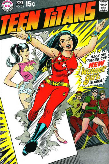 Teen Titans #23, one of Cardy's most famous covers.