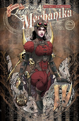 The cover art to Joe Benitez' elusive Lady Mechanika #4