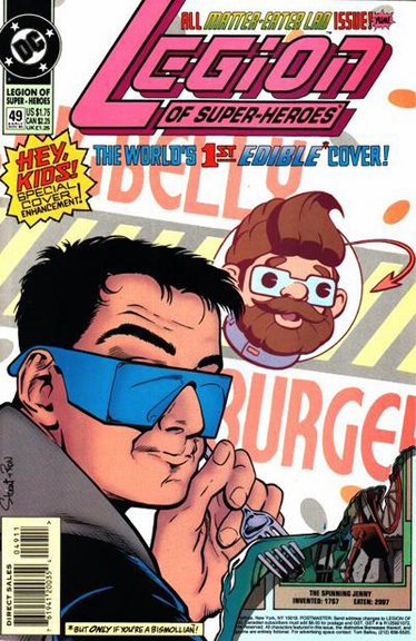 All Tenzil issue. Art  by Stuart Immonen and Ron Boyd(Yes, that's a charcture of Andy Helfer for Big Belly Burgers)