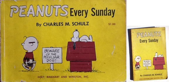 Books like the original Peanuts Every Sunday (1961) (which collected the Sunday strips exclusively) were published in two different formats. I preferred the horizontal format, as our local paper didn't publish the strip in this format.