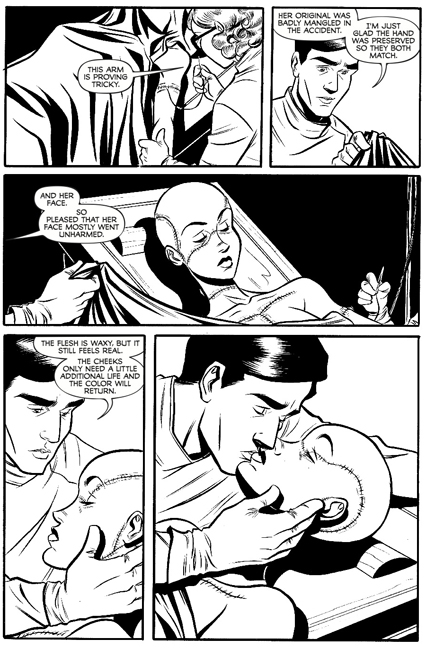 Madame Frankenstein #1 preview page 4.