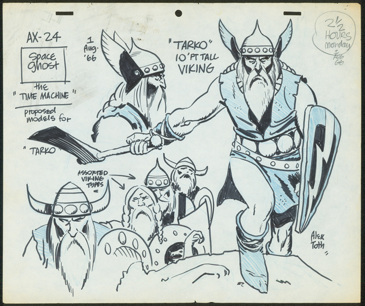 A Toth model sheet from Space Ghost. TM & © Hanna-Barbera. Used with permission.