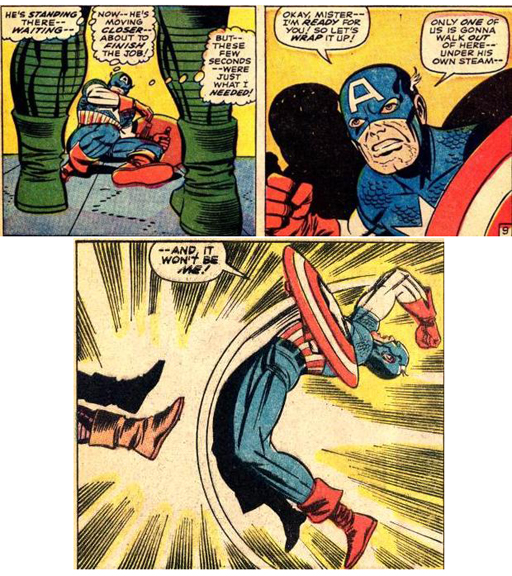 Captain America and perhaps Marvel's most infamous goof.