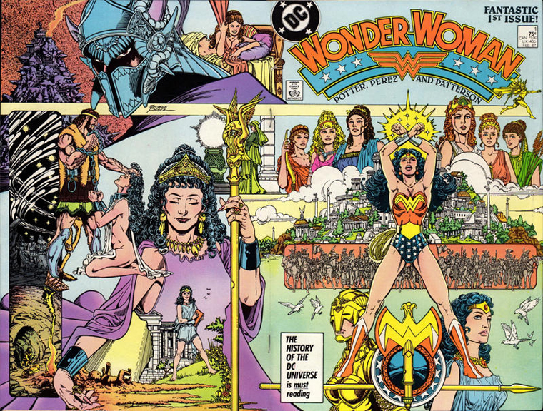 Wonder Woman #1, the first issue of George Pérez's re-launch