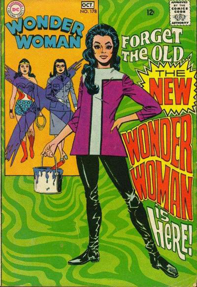 """Wonder Woman #178: Mike Sekowsky's attempt to make Wonder Woman """"mod"""". Instead, it made some fans (like Gloria Steinem) """"mad""""."""