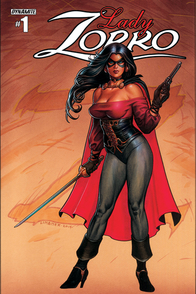 Lady Zorro #1 cover by Joseph Michael Linsner