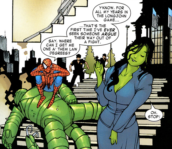 """""""She-Hulk: Smart and Strong."""""""