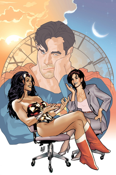 """Wonder Woman & Lois Lane, Comparing Super Notes."""