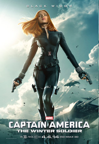 Scarlett Johansson as the Black Widow in Captain America: The Winter Soldier
