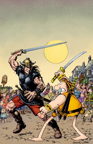 Sergio Aragonés and Mark Evanier's Groo VS Conan #1 (of 4)