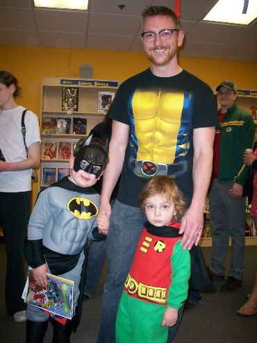 Eric, Batman & Robin at Free Comic Book Day 2014
