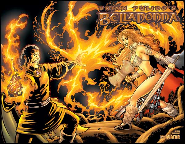 Image: Brian Pulido's Belladonna #5 (wraparound cover) - Avatar Press