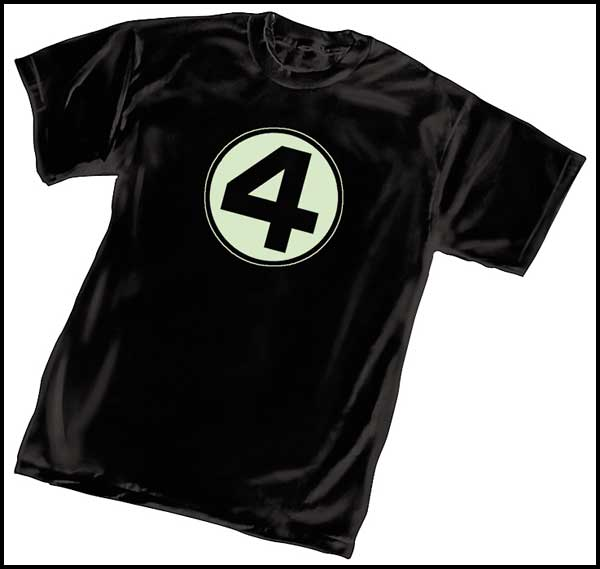 Image: Fantastic Four Glow-in-the-Dark T-Shirt  (L) - Marvel Comics