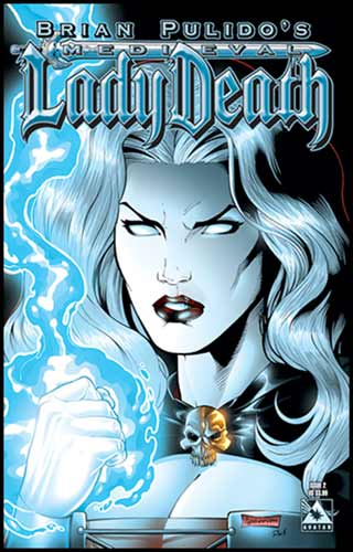 Image: Brian Pulido's Medieval Lady Death #2 (regular cover) - Avatar Press