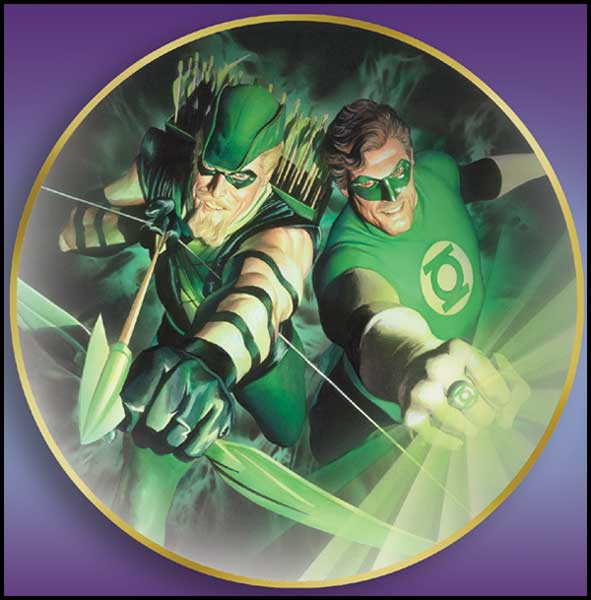 Image: Green Lantern and Green Arrow Collector's Plate  (Alex Ross) -