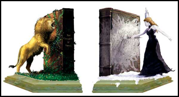 Image: Narnia WETA Statue: Lion & Witch Bookends  -
