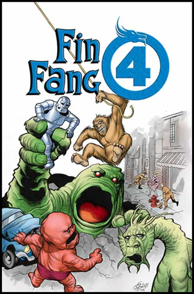 Image: Marvel Monsters: Fin Fang Four  - Marvel Comics
