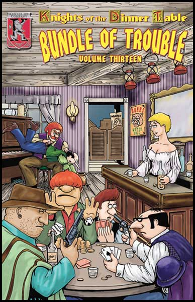 Image: Knights of the Dinner Table: Bundle of Trouble Vol. 13 SC  - Kenzer & Company