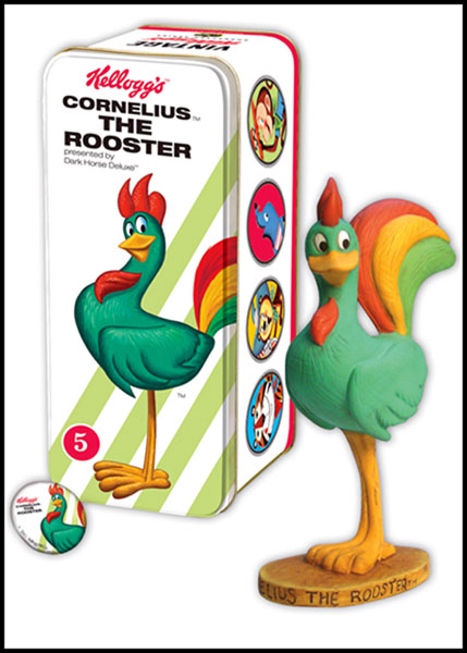 Image: Classic Kelloggs Character Statue #5: Cornelius Rooster  -
